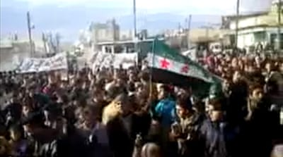 Fresh protests in Syria ahead of UN briefing