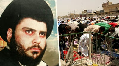 "Sadr urged supporters to show up at the Green Zone's gates this Friday to 'make your voices heard' to demand implementing his proposed ""fundamental"" reforms. [Getty Images]"