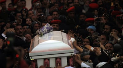 Coptic Pope laid to rest in desert monastery