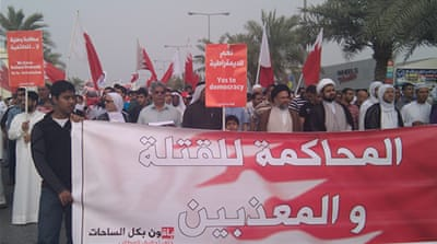 Bahrain activists hold pro-reform marches