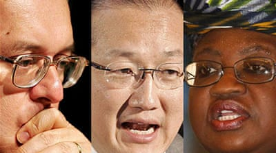 Shortlist for World Bank presidency
