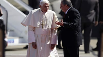 Pope Benedict in Cuba after Mexico tour