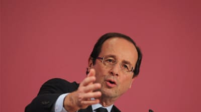 French Socialist candidate Francois Hollande may help politically re-align much of Europe if elected [GALLO/GETTY]