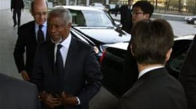 Annan in China to win support for Syria plan