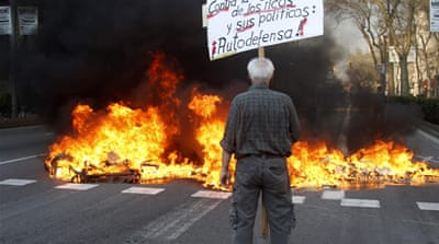 Violence flares during Spain general strike