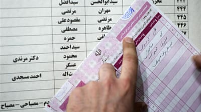 Iran election's initial results trickle in
