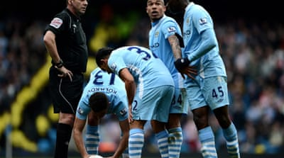 City stumble in title challenge