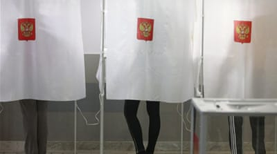 Russian voters discuss presidential election