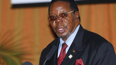 Malawi president blames donors for unrest