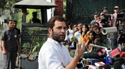 Rahul Gandhi was recently named vice president of the Indian Congress Party, led by his mother, Sonia Gandhi [AP]