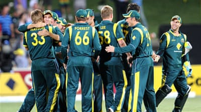 Australia wrap up tri-series tournament