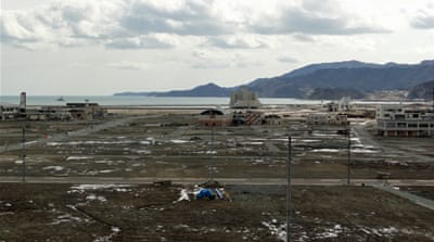 The town of Rikuzentakata was devastated by the tsunami, which swept 8km inland [D.Parvaz/Al Jazeera]