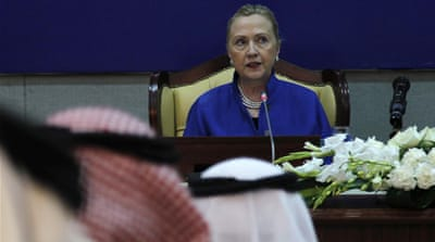 Clinton was speaking in Saudi Arabia after meeting Gulf foreign ministers [Reuters]