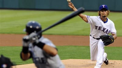 Darvish holds nerve in MLB debut