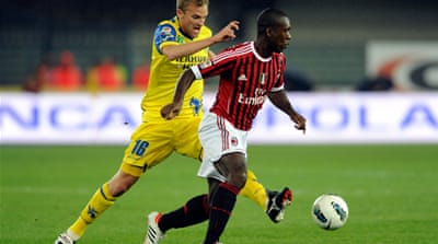 Milan back on top in Serie A