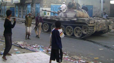 Alleged al-Qaeda fighters had taken control of several areas during the uprising against Saleh's government [AFP]