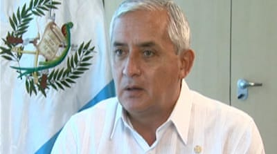 Guatemalan president says drug war has failed