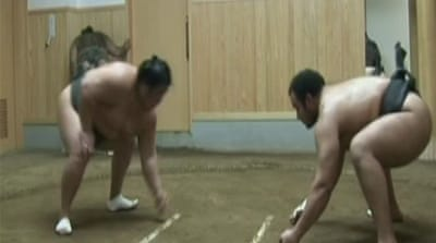 Egyptian sumo wrestler sizes up world title