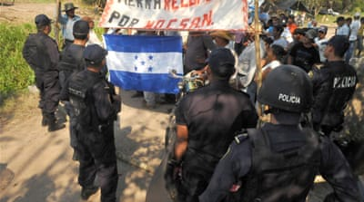 Thousands of Honduran workers occupy land