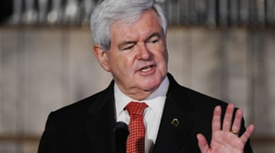 Newt Gingrich has relied on the huge donations made by just two donors [EPA]