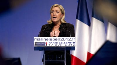 Charismatic Marine Le Pen has tried to broaden the support base of the National Front party [Reuters]