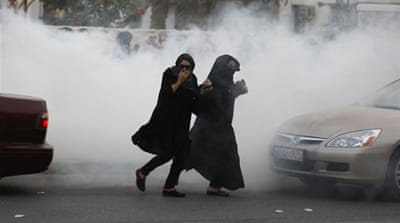 Protesters have clashed with riot police in several villages across Bahrain [Reuters]