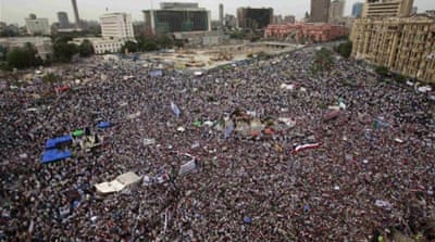 Thousands of Islamists who once shunned Egyptian revolutionaries have flocked to Tahrir Square [REUTERS]