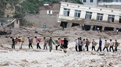 China floods and landslides