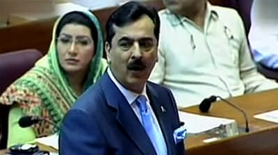 Gilani is convicted of disobeying court orders to open a corruption probe against his boss, president Zardari [Reuters]