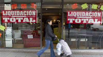Spain unemployment hits record high