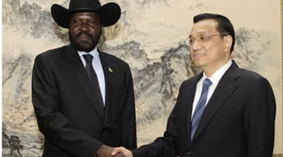 The loan comes after talks between Kiir and Li Keqiang, China's vice premier, in Beijing [Reuters]