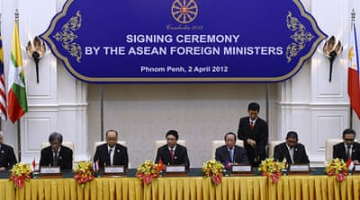Leaders of ASEAN bloc representing almost 600 million people convened in Phnom Penh [AFP]