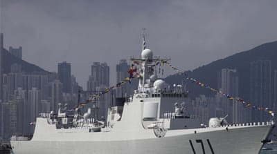 Al Jazeera's Rob McBride reports from Hong Kong on two Chinese warships visiting the territory