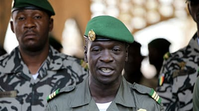 """I do not agree with the deployment of soldiers from [ECOWAS],"" says coup leader, Amadou Sanogo."