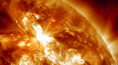 As the Sun picks up in activity toward its maximum peak in its 11-year cycle - peaking around 2013 - solar storms could become more of an issue [AP]