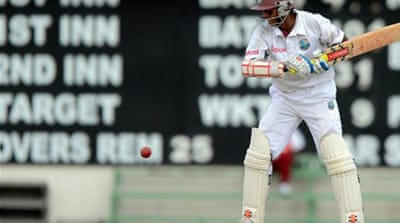 Chanderpaul gives Windies the edge