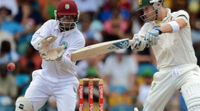 Windies on top in first Test