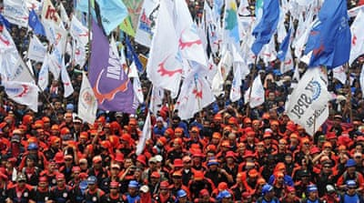 Workers around the world mark May Day