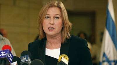 Livni said she would remain in public life after resigning from the Knesset [AFP]