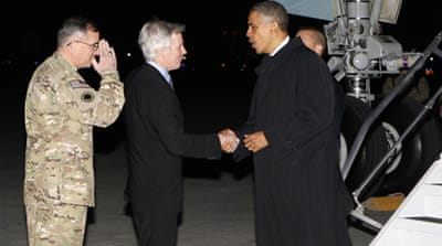 President Barack Obama is making only his third trip to Afghanistan since taking office in 2009. [AFP]