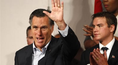 Romney recently came under fire for posing for pictures while jet skiing at his vacation home with wife Ann [AP]