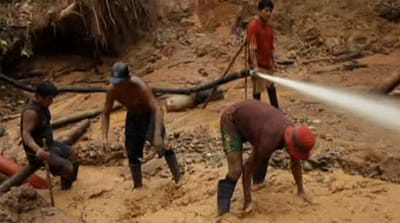 Illegal mining in Peru destroying Amazon