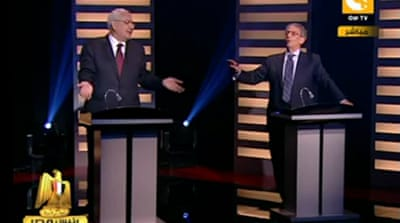 Egypt rivals clash in presidential debate