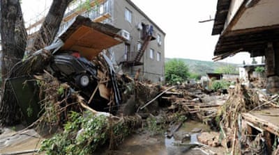 Tbilisi's Ortachala neighbourhood, which was hit hardest by the floods, is where all the five fatalities occurred [AFP]