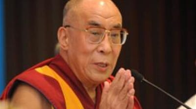 "The Dalai Lama  said ""I don't know whether [news of the plot was] 100 per cent correct or not [AFP]"