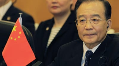 S Korea's Lee Myung-bak, China's Wen Jiabao and Japan's Yoshihiko Noda are attending the summit [Reuters]