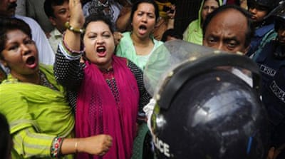 Violence marks general strike in Bangladesh