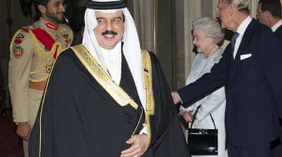 Protest over Bahrain king's royal invite