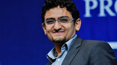 Ghonim told a US news show: 'Our revolution is like Wikipedia, okay? Everyone is contributing content' [EPA]