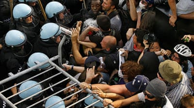 Protesters clash with police at NATO summit